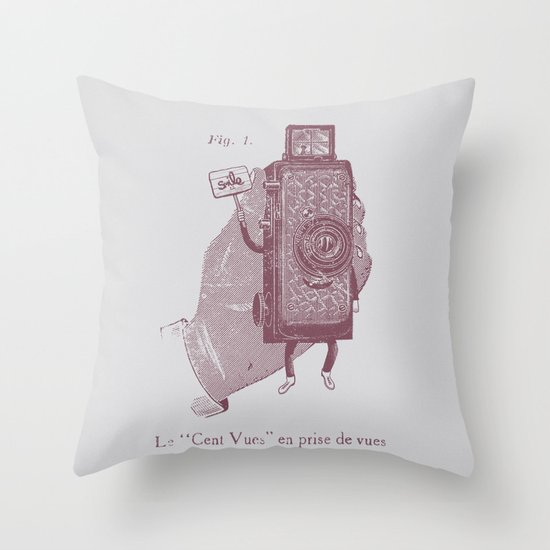 Cent Vues Throw Pillow