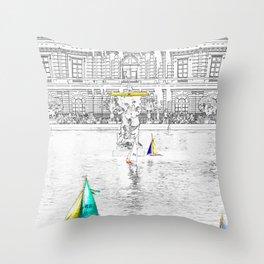 Luxembourg Gardens - Paris Throw Pillow