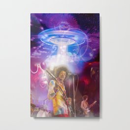 The Hendrix Abduction 02 Metal Print