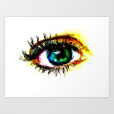 Vivid Eye Art Print