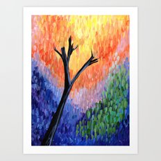 Be the Colorful Tree Art Print