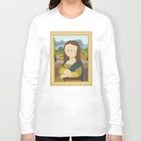 da vinci Long Sleeve T-shirts featuring Gioconda by Leonardo Da Vinci by Alapapaju