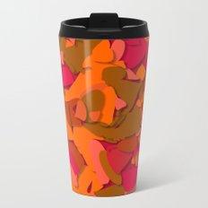 red camouflage Metal Travel Mug