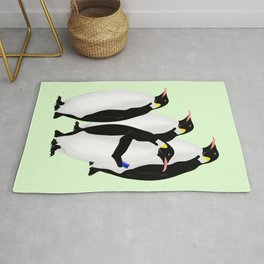 Penguin On A Mobile Device Rug
