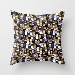 peg people police Throw Pillow