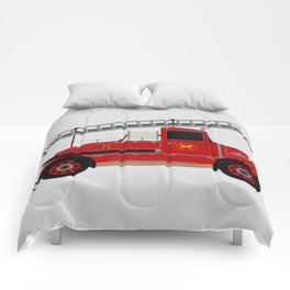 Vintage Fire Engine Comforters