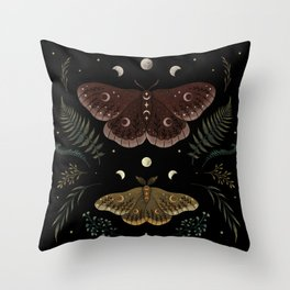Saturnia Pavonia Throw Pillow