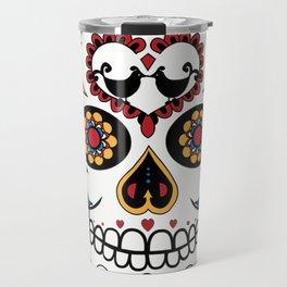Mexican Sugar Skull Travel Mug
