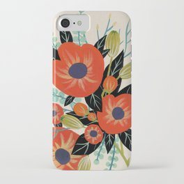 Red Poppies - Ivory iPhone Case