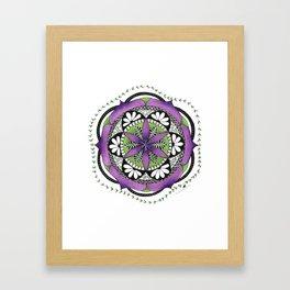 Purple Flower Mandala Framed Art Print