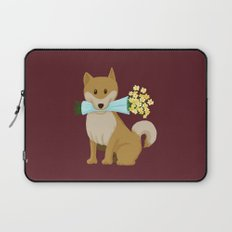 Flower Dog Laptop Sleeve