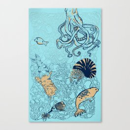Down Where It's Wetter Canvas Print