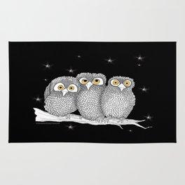 Zentangle Owl Friends at Night Rug