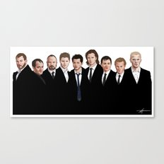 We're All Enemies Here (FRONTS ONLY) Canvas Print