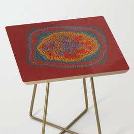 Growing - Lamium - plant cell embroidery Side Table