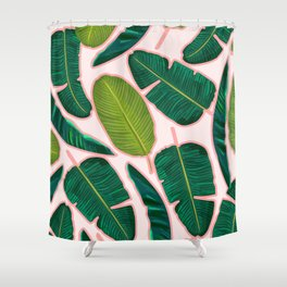 Banana Leaf Blush #society6 #decor #buyart Shower Curtain
