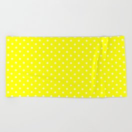 Dots (White/Yellow) Beach Towel