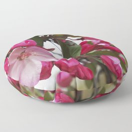 Spring blossoms - Strawberry Parfait Crabapple Floor Pillow