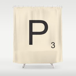 Scrabble P Shower Curtain