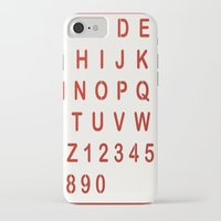 alphabet iPhone & iPod Cases featuring Alphabet by Sébastien BOUVIER