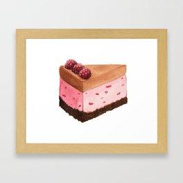Raspberry Ice Cream Cake Slice Framed Art Print