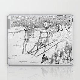 Kick-sledding Fox Laptop & iPad Skin