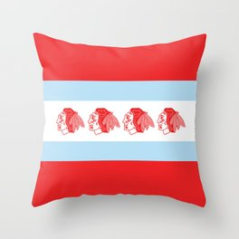 Hawks Flag Throw Pillow