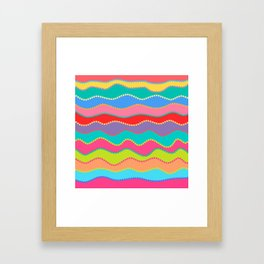 Wavy Dots Framed Art Print