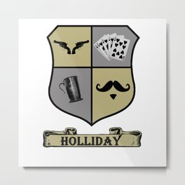 Doc Holliday Coat of Arms Metal Print
