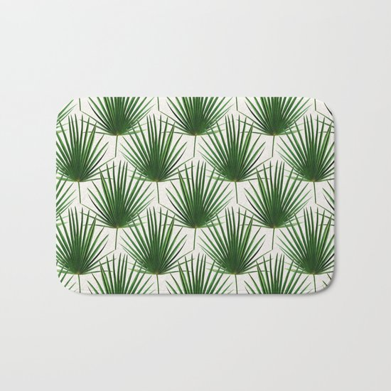 Simple Palm Leaf Geometry Bath Mat