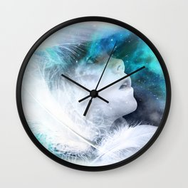 Plume d'ange Wall Clock