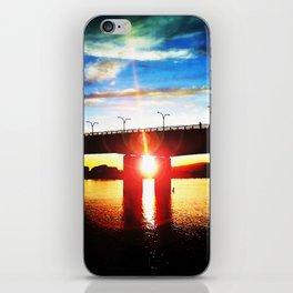 Queensway Bridge at Sunset iPhone Skin