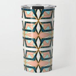 Geometric mosaic pattern of textures II Travel Mug
