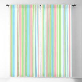 Stripe obsession color mode #2 Blackout Curtain