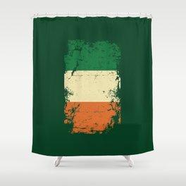 Distressed Ireland Irish Flag St Patricks Green Shower Curtain
