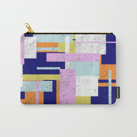 Pale Geometry - Abstract, textured, artwork Carry-All Pouch