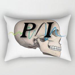 Photon Illustration Skull Rectangular Pillow