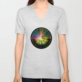 ...a simple kind of abstract mandala Unisex V-Neck