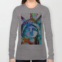 Statue of Liberty Grunge Long Sleeve T-shirt
