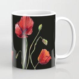 Poppies at Midnight Coffee Mug