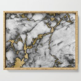 marble gold black Serving Tray
