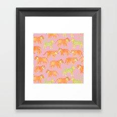 Pink Tigers Framed Art Print