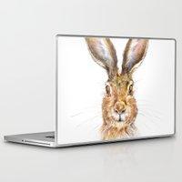 hare Laptop & iPad Skins featuring HARE by Patrizia Ambrosini