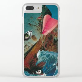 Big Blue Whale Clear iPhone Case