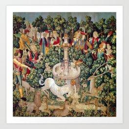 Unicorn Tapestry Art Print