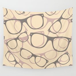 60s 70s 80s  Retro Glasses Seamless Pattern Retro Sunglasses Wall Tapestry