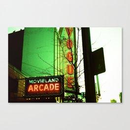 Movieland Arcade, Vancouver Canvas Print