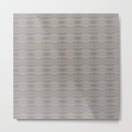 Elegant Gray Geometric Southwestern Pattern - Luxury Metal Print