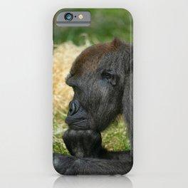 Gorilla Lope Resting His Head iPhone Case