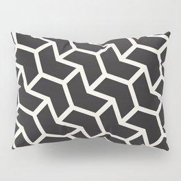 Black & White Geometric Pattern Chevron Arrow Interlock Pillow Sham